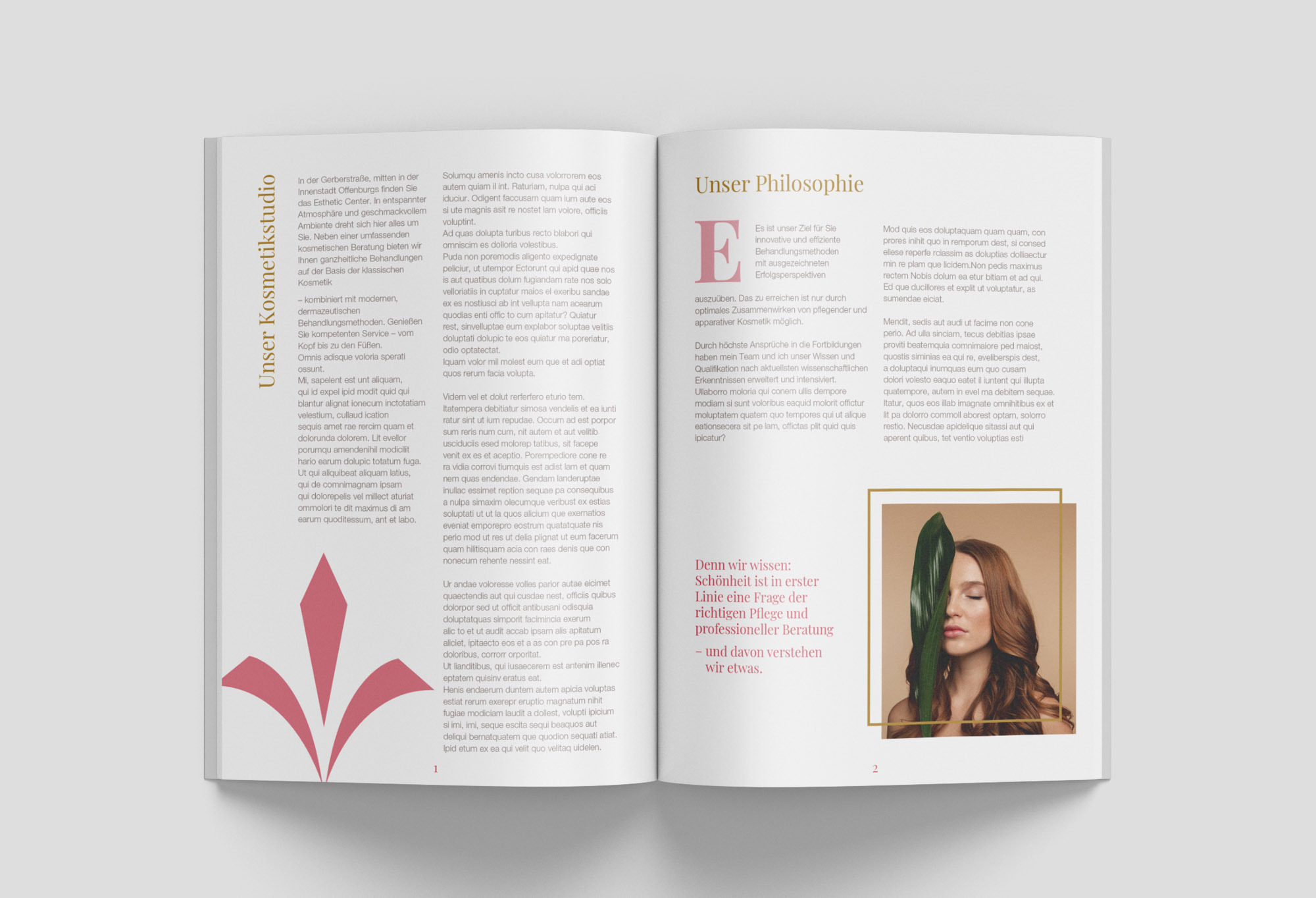 Magazine Mockup Innenteil Esthetic Center | MedienMacher