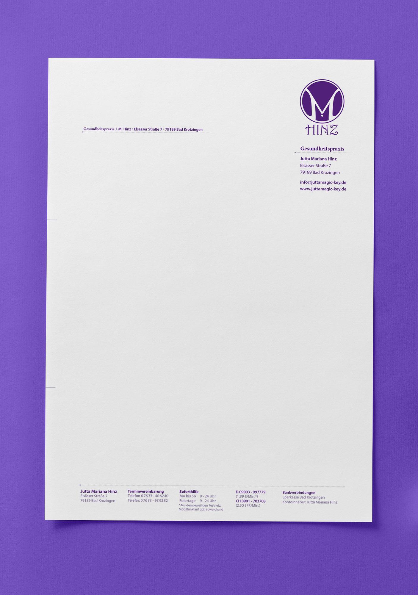 Mock Up Briefpapier Hinz | MedienMacher