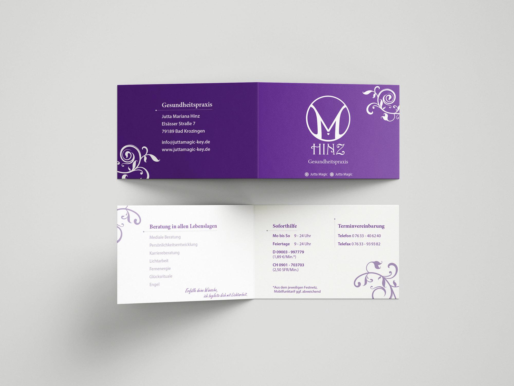 Visitenkarte 1 lila Hinz | MedienMacher
